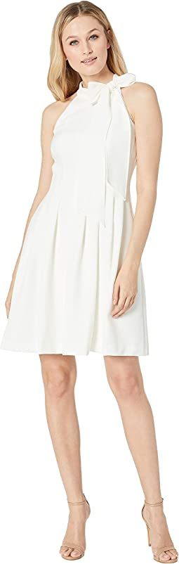 Kors Crepe Fit & Flare w/ Bow Neck