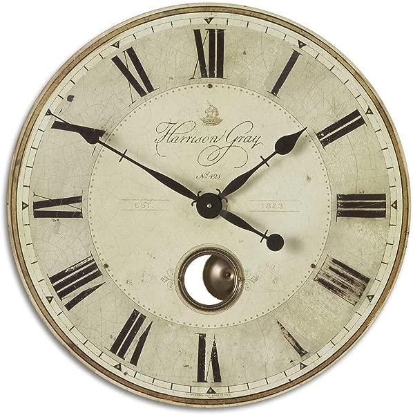 Uttermost Harrison Gray 23 Inch Wall Clock
