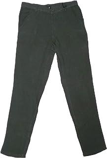 Pantalone Lungo Lino Leggero Estivo Slim Cerniera Uomo Ragazzo