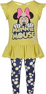 Disney Girls' Minnie Mouse Short-Sleeve Fashion Shirt & Capri Legging Outfit Set 4-6X