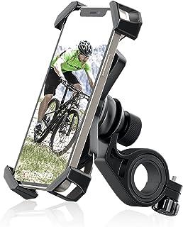 Tiakia 自転車 スマホホルダー オートバイ バイク スマホほるだー スマートフォン 振れ止め 脱落防止 GPSナビ スタンド 携帯 固定用 マウント スタンド 防水 に適用 iPhone X XS 8 7 6 6S Plus/HUWEI ...