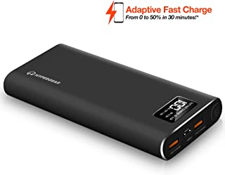 HyperGear 26800 Dual Input QC-3.0 USB + 1X USB-C Portable Charger External Battery with Double-Speed Recharging, 2 USB Ports for iPhone, iPad, Samsung Galaxy, Android and Other Smart Devices