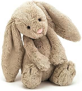 Jellycat Bashful Beige Bunny, Brown Bunny, 31cm
