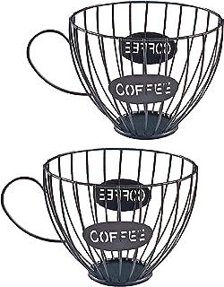 Baoblaze Ensemble de 2 Tasses de Rangement Universelles pour Dosettes de Café pour La Maison