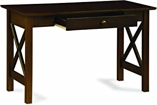 Atlantic Furniture Lexi Writing Desk, Antique Walnut