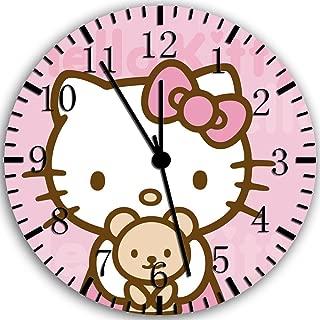 Borderless Hello Kitty Teddy Bear Frameless Wall Clock Z49 Nice for Decor Or Gifts