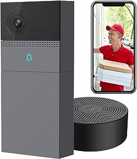 Caméra de Sonnette sans Fil Laxihub B1, détection de Mouvement de Sonnerie extérieure de sécurité WiFi, Batterie Rechargea...