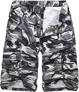 iZHH Men's Camouflage Outdoors Pocket Beach Work Trouser Cargo Shorts Pant