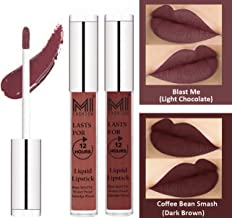 Lip Gloss for women Liquid Matte Lipstick by MI Fashion®, Smudge Proof, Kiss Proof-Light Chocolate Lip Gloss,Dark Brown Liquid Lipstick