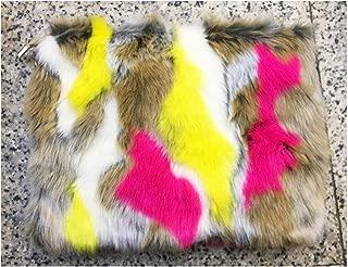 New Fashion Women's Clutches Bags Lady Mixed Faux Fur Clutch Handbags Shoulder Bags Pouch Party Messenger Purse Colorful Bag