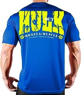 Men's Bodybuilding Workout (HulkOut) Fitness Gym T-Shirt