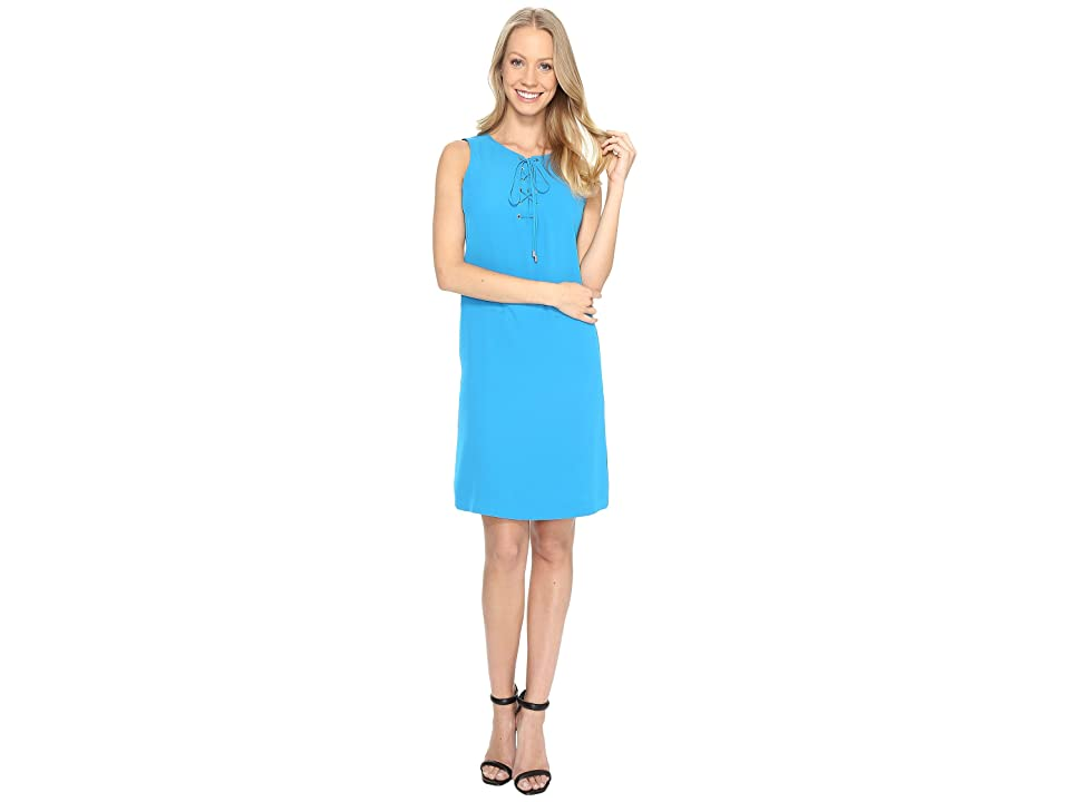 Calvin Klein Sleeveless Lace-Up Dress (Adriatic Blue) Women