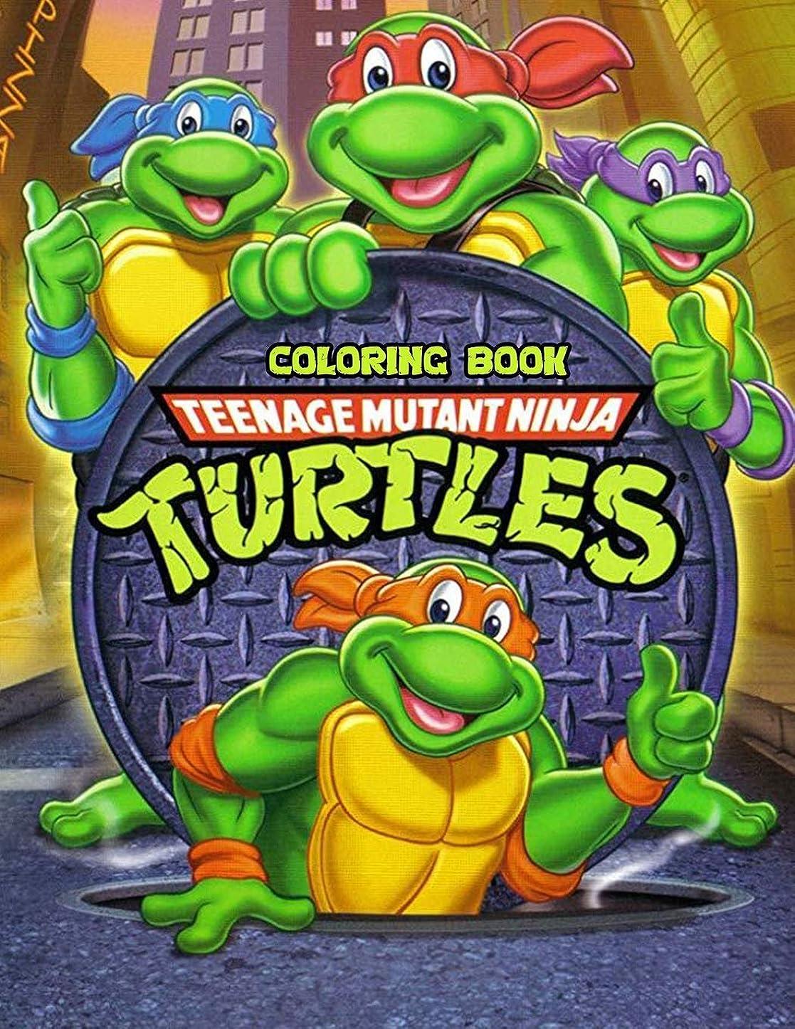 部分的にヤギ居心地の良いTeenage Mutant Ninja Turtles Coloring Book: Coloring Book for Kids and Adults