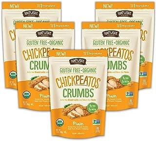 WATUSEE FOODS Organic Chickpea Crumbs Vegan Chickpea Breadcrumb 6 Pack 7 oz. Bag Gluten Free, Crunchy Panko Alternative Plain