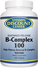 Vitamin Discount Center B-Complex 100mg, Sustained Release, 100 Tablets