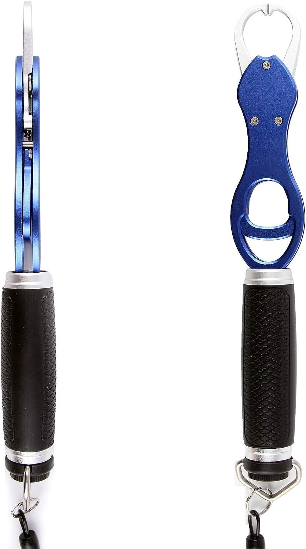CRAZY SHARK Portable Aluminium Fish Lip Gripper Grabber Grip Tool Fish Holder with Scale