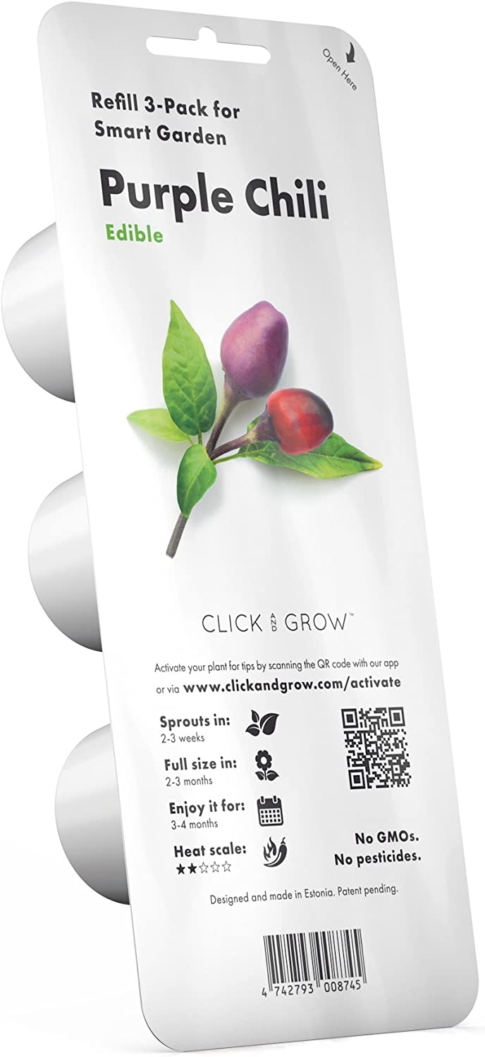 Click and Grow Smart Garden Plant Pods Chili Over item Manufacturer direct delivery handling ☆ 3-Pack Purple