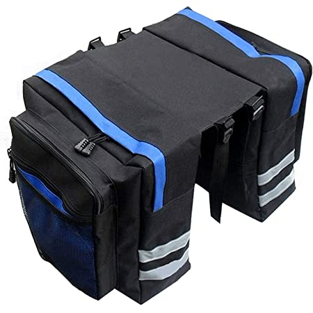 Dunlop Doppel Fahrradtasche Satteltasche Gepäckträger wetterfestTransporttasche