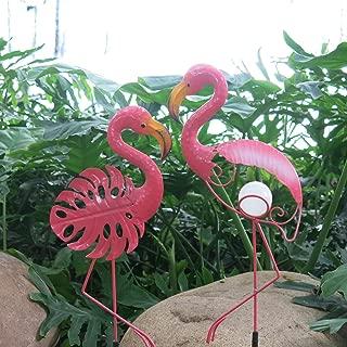 Cinda electronics Tall Metal Pink Flamingos Garden Outdoor and Indoor Statues Metal Yard Art Pink Flamingo Lawn Ornaments Yard Party Decorations (Pink)