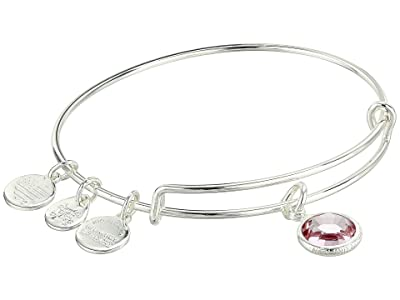 Alex and Ani Swarovski Color Code Bangle Bracelet (June/Light Amethyst Color/Shiny Silver) Bracelet