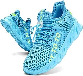 Sponsored Ad - EGMPDA Boy Shoes Athletic Running Fashion Sneakers Walking Breathable Kids Girls Fitness Cross-Training Ten...