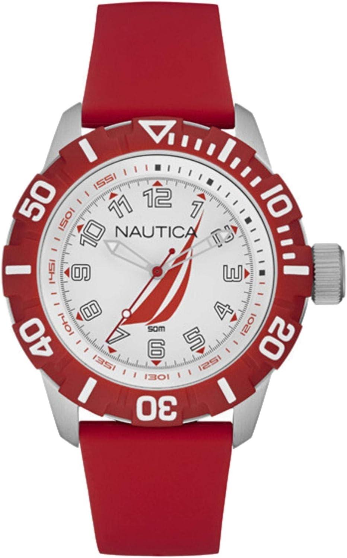 Nautica Reloj Analógico para Unisex Adultos de Cuarzo con Correa en Silicona NAI08506G
