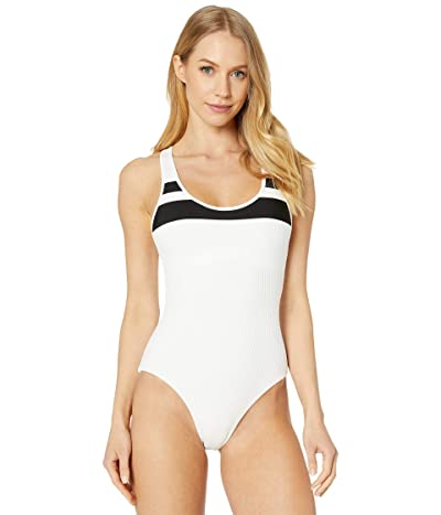 Hurley Block Party One-Piece (White) Women