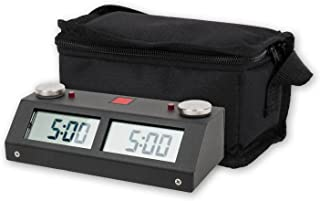 Chronos GX Digital Game Chess Clock - Touch - Black with Carrying Bag