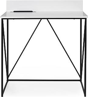 Tenzo Tell Bureau, Bois, Blanc/Noir, 80 x 48 x 75 cm