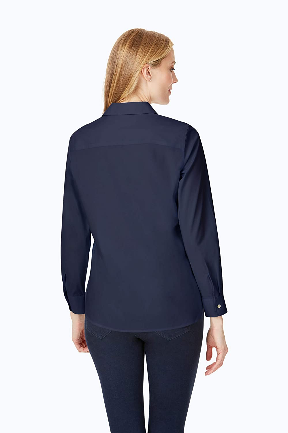 Foxcroft Women's Kylie Non-Iron Ls Stretch Shirt Navy