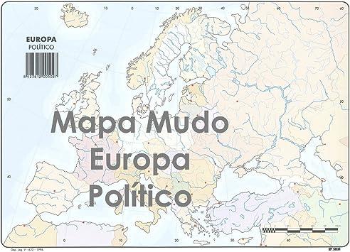 Mapa Mudo SELVI Color Din-A4 Europa Político, Caja x50: Amazon.es: Oficina y papelería