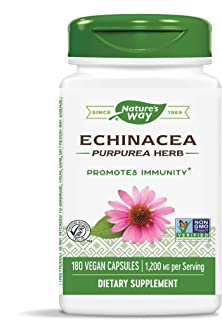 Nature's Way Echinacea Purpurea Herb, 1,200 mg per serving, 180 Capsules