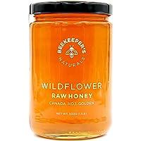 Beekeeper's Naturals Wildflower 500g of 100% Pure Sustainably Raw Honey