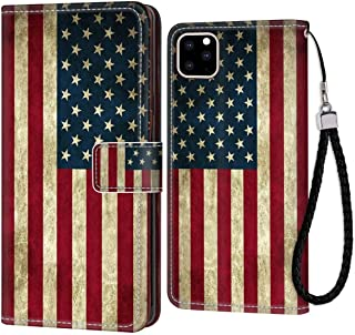 HUAKE iPhone 11 Pro Max (2019) [6.5inch] Wallet Case US Flag Protective