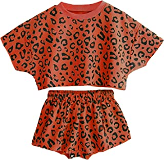 Avidqueen Toddler Baby Girls Leopard Print Summer Clothes Set T-Shirt and Short Pants 2pcs Outfits
