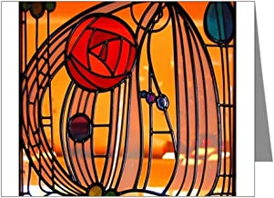 CafePress - Charles Rennie Mackintosh Stained Glass Note Cards - Blank Note Cards (Pack of 20) Glossy