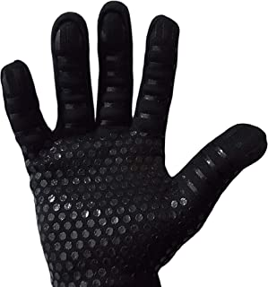 Cyraeon - Heat and fire resistant cooking and baking gloves The perfect pair of all-in-one gloves. Cut-proof with extra silicone grip - gives extra help in the kitchen, black, large