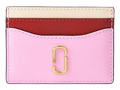 Marc Jacobs Snapshot Card Case (Powder Pink Multi) Credit card Wallet