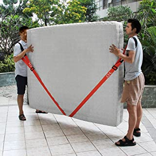 JCHL Moving Straps 2-Person Lifting and Moving System Adjustable Shoulder Lifting Carrying and Moving Straps Easily Move Lift Carry Secure Furniture Heavy Objects Orange