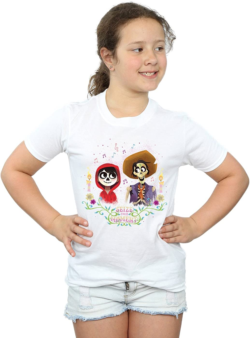 Disney Girls Coco Miguel and Hector T-Shirt 5-6 Years White