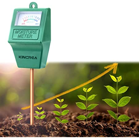 KINCREA Soil Moisture Meter, Hygrometer Soil Water Monitor for Garden, Lawn Plants Indoor Outdoor, Battery Free (only Moisture)