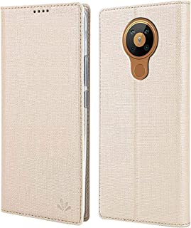 MOONCASE Nokia 5.3 Case, Cloth Texture PU Leather + Soft TPU Inner Shell Holster Hidden Magnetic Adsorption Flip Cover Cas...