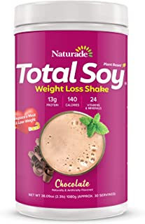 Sponsored Ad - Naturade Total Soy Protein Powder and Meal Replacement Shakes for Weight Loss, Chocolate (30 Servings)