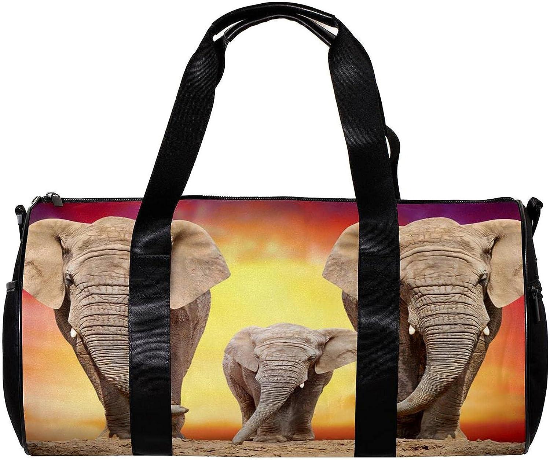 LEVEIS Animals Regular store Elephant Sports Duffel Bag Tote on Travel Las Vegas Mall W Carry