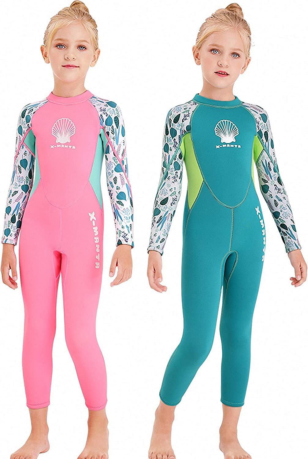 Surfing Diving MWTA Wetsuit for Kids Boys Girls 2.5mm Neoprene Thermal Swimsuit Fullsuit Wet Suits Long Sleeve for Toddler Child Junior Youth Swimming
