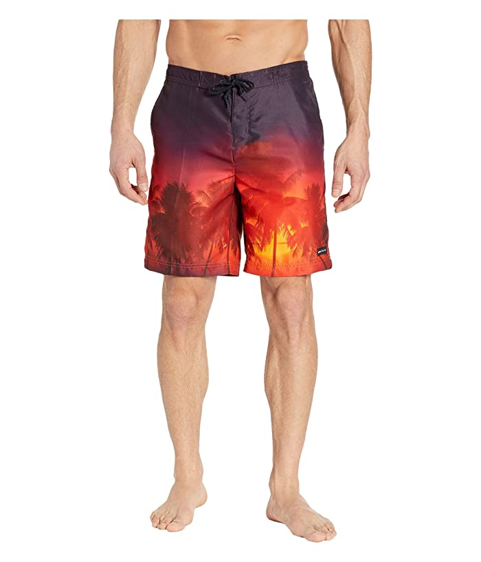 Perry Ellis  8.5 Printed Boardshorts (Orangeade) Mens Swimwear