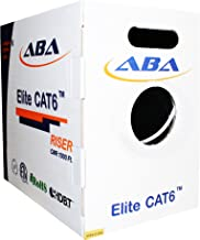 Infinity Cable CAT6 CMR Riser 23AWG UTP, 1000ft, 550MHz Solid, 100% Bare Copper, UL Certified, Easy to Pull (Reelex II) Box, Ethernet Cable, White