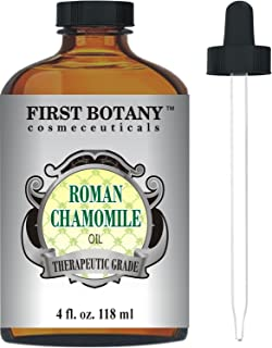 Roman Chamomile Essential Oil with a Glass Dropper - Large 4 fl. oz- Best Premium Quality Oil