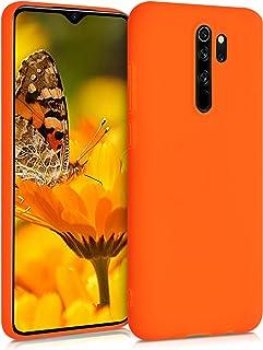 kwmobile telefoonhoesje compatibel met Xiaomi Redmi Note 8 Pro - Hoesje voor smartphone - Back cover in neon oranje