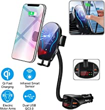 WALOTAR Car Cigarette Lighter Wireless Charger- Phone Holder Mount,Automatic Infrared..